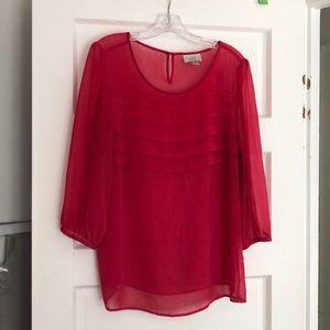 LOFT pink gorgeous blouse sz XL